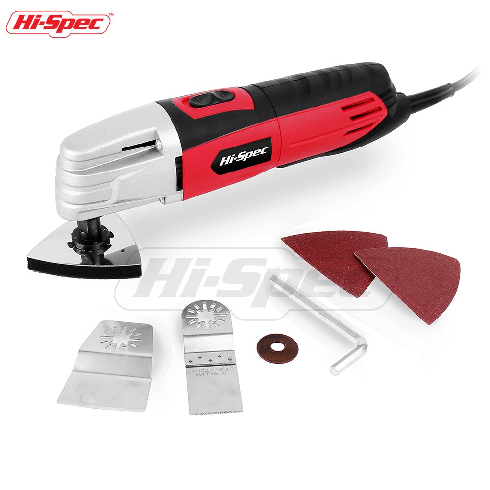 Hi-Spec 2.0A (240w) Multi Purpose Oscillating Tool with Variable Speed Switch and Universal Accessories for Cutting, Sanding, Trimming and Removing Flooring – Multi-Function Power Tool