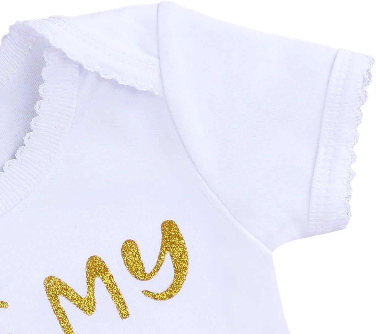 FYMNSI Kleinkinder Baby M/ädchen 1 1//2 2 Geburtstag Party Outfit Prinzessin Kleid Baumwolle Kurzarm Strampler T/üll T/üt/ü Rock Pailletten Stirnband Beinw/ärmer Set 4tlg Fotoshooting Kost/üm Geschenk
