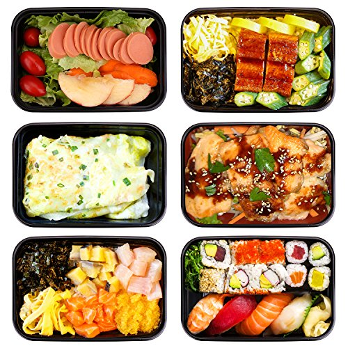 Meal Prep Container 1 Compartment Bento Boxes 20 Pack 32oz w