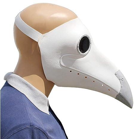 QCHNES Máscara de médico de la Peste Máscara de Pico Máscara ...