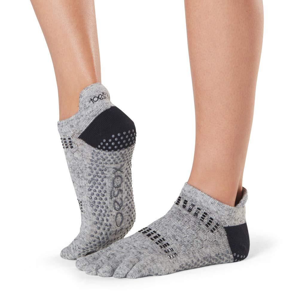 Barre Toe Socks Yoga Pilates ToeSox Womens Low Rise Full Toe Grip Non-Slip for Ballet