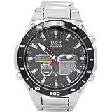 [エルジン]ELGIN 腕時計 電波 ソーラー ワールドタイム 100M防水 ブラック FK1381S-BP メンズ