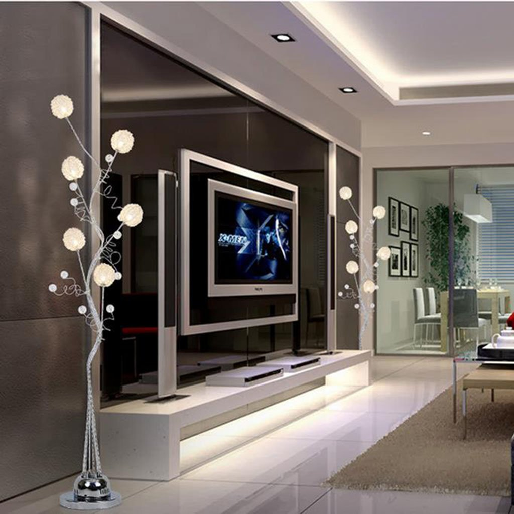 Irgendeine Heimatlampe Led Fernbedienung vertikale Stehleuchte, Aluminium Couchtisch vertikale Lampe moderne einfache kreative Stehleuchte (ausgabe : Fernbedienungsschalter)