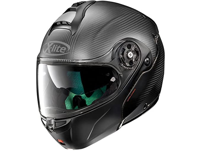 Amazon.es: Casco modular de fibra X-Lite x-1004 Ultra Dyad M FLAT CARBON FLAT BLACK CHIN GUARD