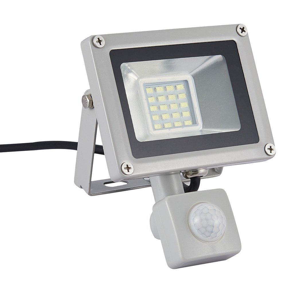Garaje 50w Led Foco Proyector con sensor movimiento para Exterior Iluminaci/ón Decoraci/ón IP65 3000K foco exterior para Jard/ín Bodega y Patio