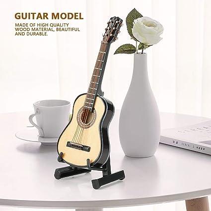 Hilitand Modelo de Guitarra de Madera en Miniatura Pantalla Mini ...