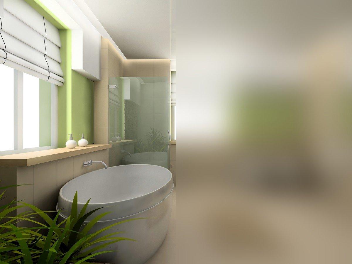 Sichtschutzfolie Milchglasfolie Fenster Pearl Matt PVC