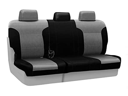 Admirable Coverking Custom Fit Rear 60 40 Bench Seat Cover For Select Dodge Grand Caravan Models Premium Leatherette 2 Tone Medium Gray With Black Sides Pabps2019 Chair Design Images Pabps2019Com