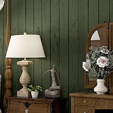 Sbwylt American Style Dark Wood Grain Wallpaper Bba Amazoncouk
