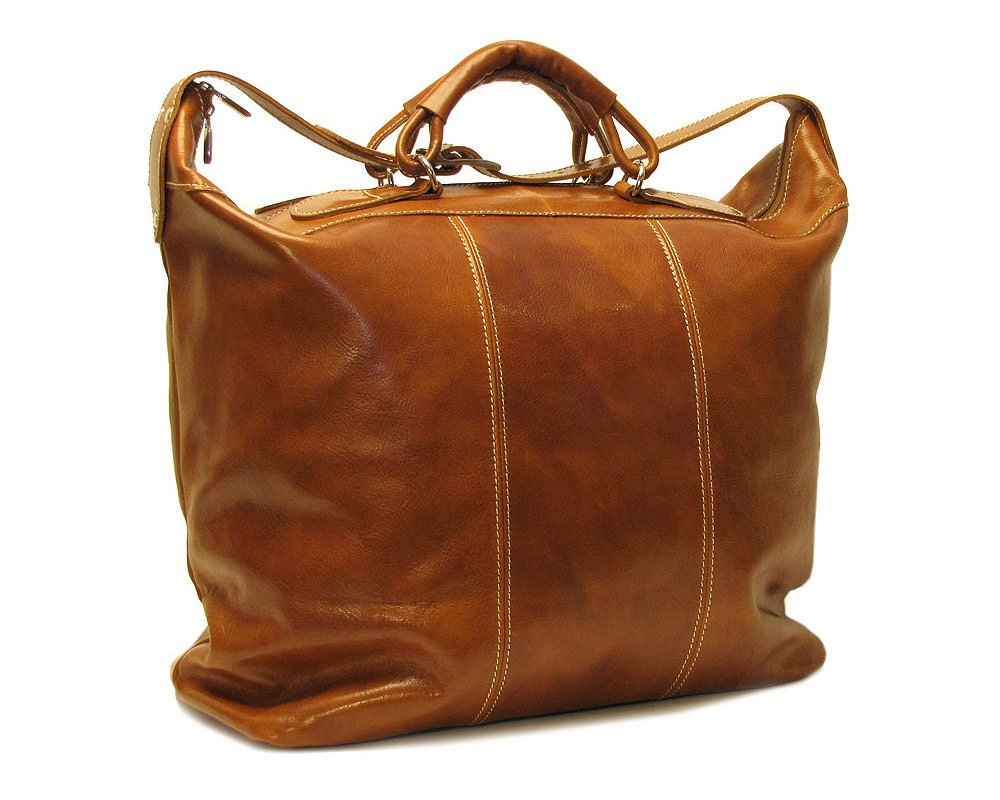 Piana Leather Tote Bag Color: Vecchio Brown
