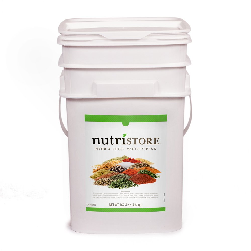 Herb and Spice Variety Pack by Nutristore | 162.4 oz | Long Term Storage | Perfect for Emergencies