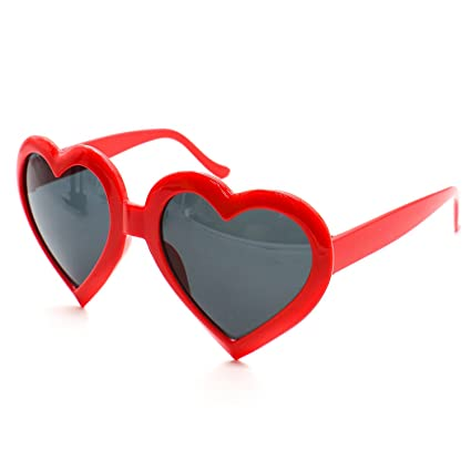 Amazon.com: Buorsa - Gafas de sol con forma de corazón para ...