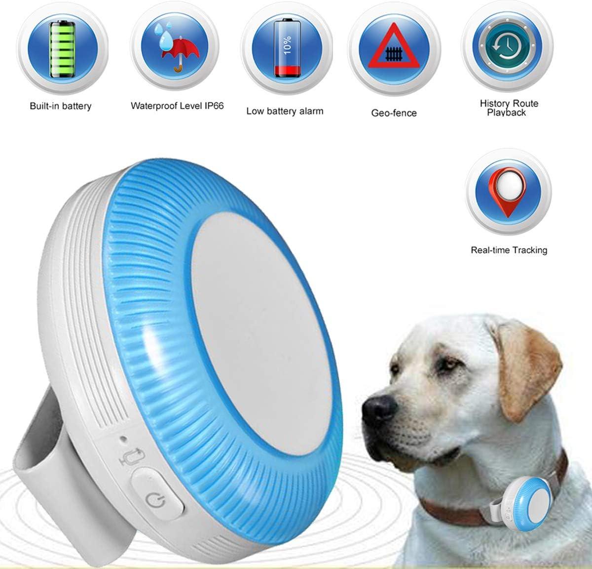 Zeerkeer Mini GPS Tracker,Rastreador GPS de Mascotas con Tarjeta SIM, Localizador GPS para Perros en Tiempo Real Impermeable IP65 Ligero, Geofence, Alarma SOS (TK925)