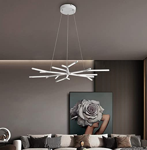 LED Pendant Lamp 38.5 Inches Length Modern Antler Shaped Light