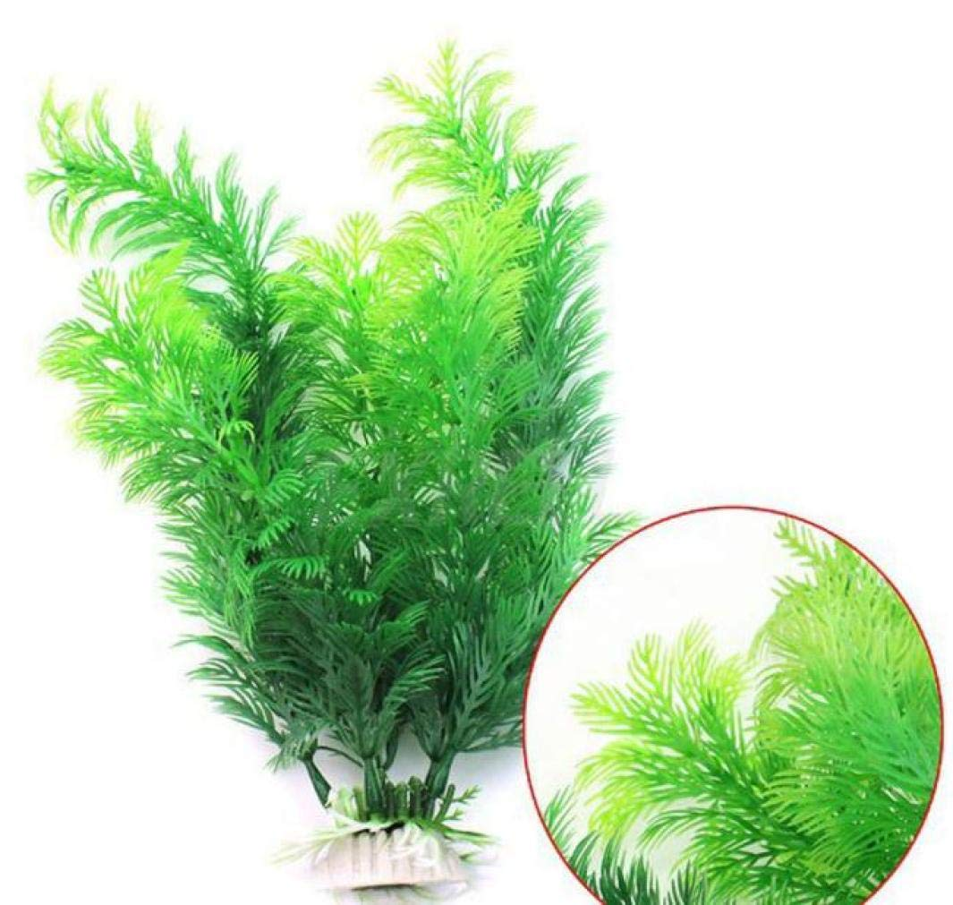 Bookear 2018 New Water Plants for Fish Tank Aquarium Decor Ornament Decoration Plastic Submarine (Green)