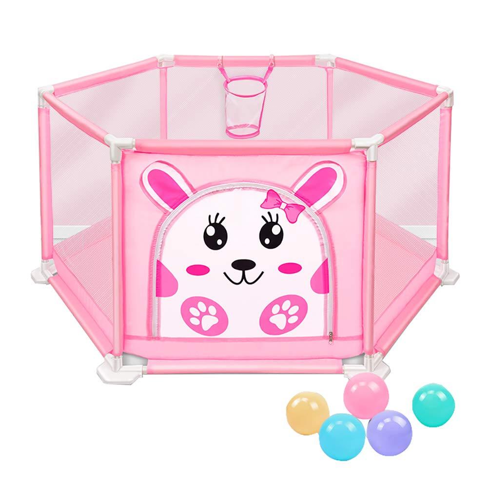 最新入荷 5ボールのピンクの赤ちゃんの遊び場アンチロールオーバーの幼児の部屋バスケットボールのフープと安全な通気性の子供の遊び場のプレーヤ (サイズ さいず (サイズ S : S s) s) S s B07JDXH1PC, イナギシ:9cb52a33 --- a0267596.xsph.ru