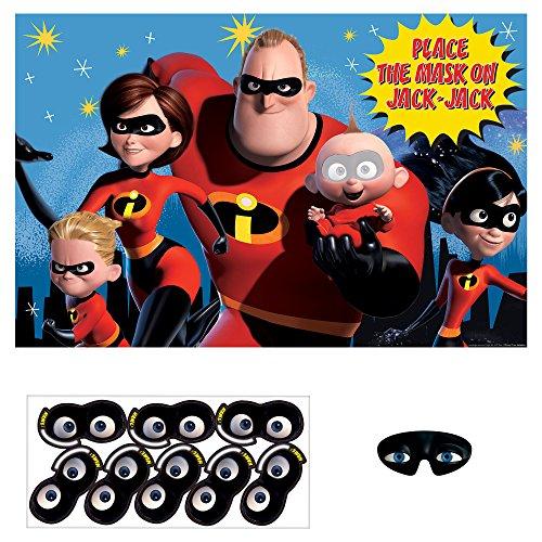 Disney Pixar Incredibles 2 Superhero Birthday Poster 8 Playe
