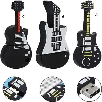 tianranrt 4 GB USB dibujos animados Guitarra Shape Cool Modelo ...