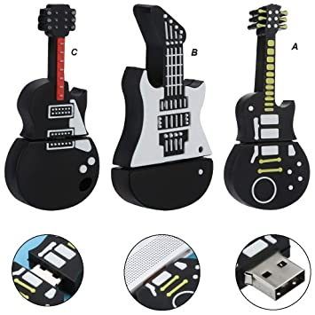 tianranrt 4 GB USB dibujos animados Guitarra Shape Cool Modelo Memoria Flash Stick unidad lápiz U disco duro, Multicolor: Amazon.es: Bricolaje y ...