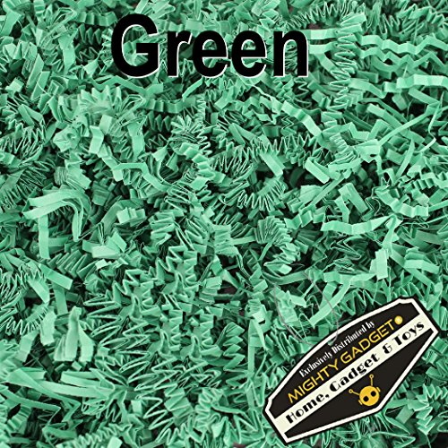 Mighty Gadget (R) 1 LB Green Crinkle Cut Paper Shred Filler for Gift Wrapping & Basket Filling by Mighty Gadget