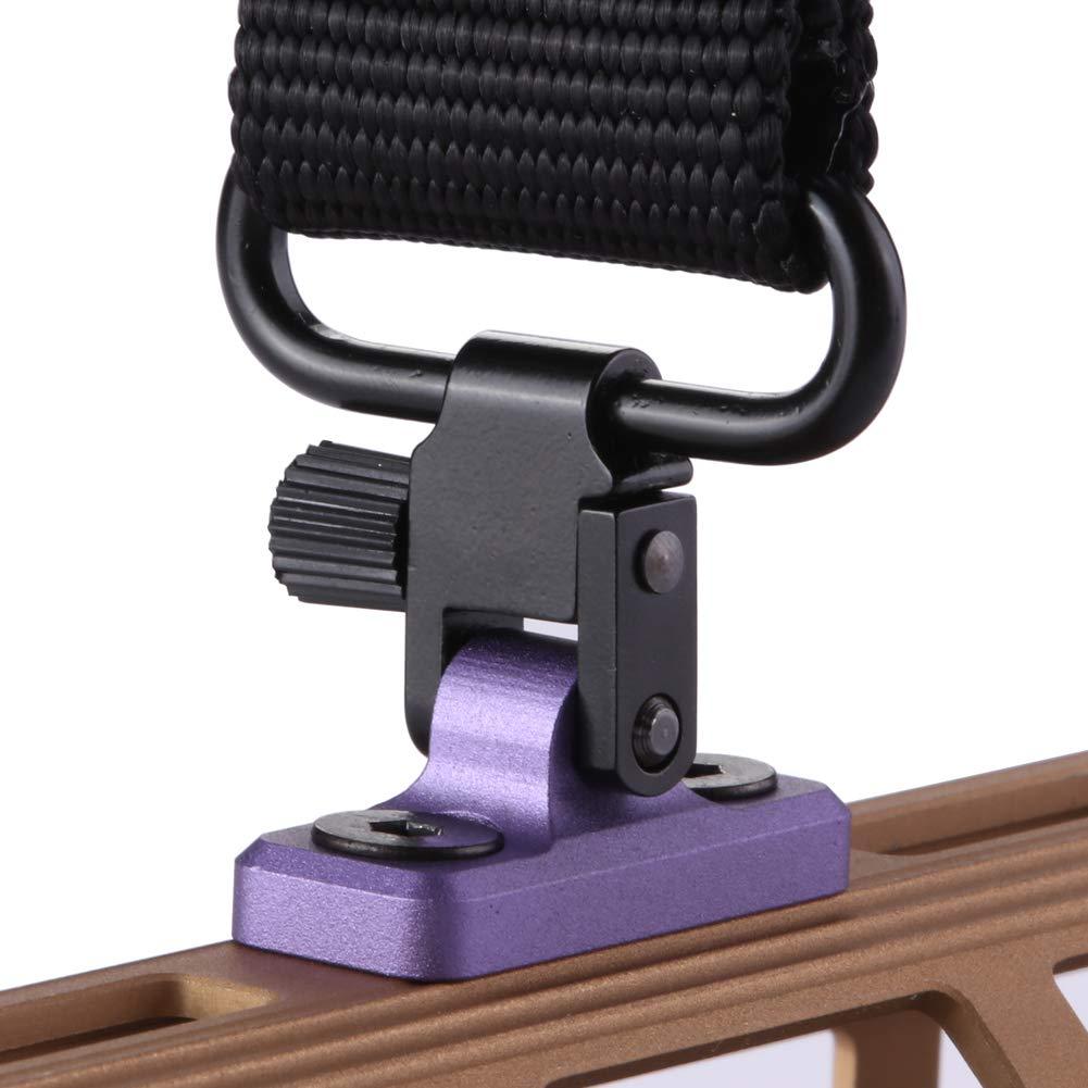 TuFok Mlok Sling Mount Stud - Gun Sling Swivel for M-lok System,Rifle Sling Mount fit Uncle Mikes Style Sling Swivel Stud, Low Profile Design,Aluminum (Purple) by TuFok