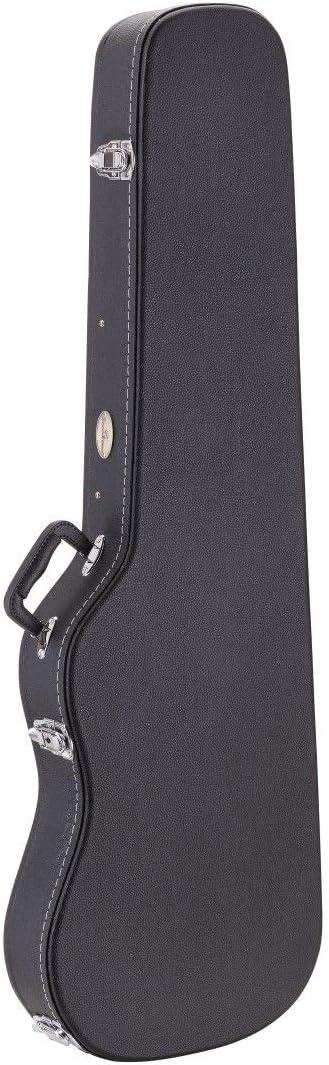 Funda rígida estuche rígido moldeado para bajo eléctrico color negro, relleno interior, bolsillo interior, dimensiones interiores 122 x 35 x 9 cm: Amazon.es: Instrumentos musicales