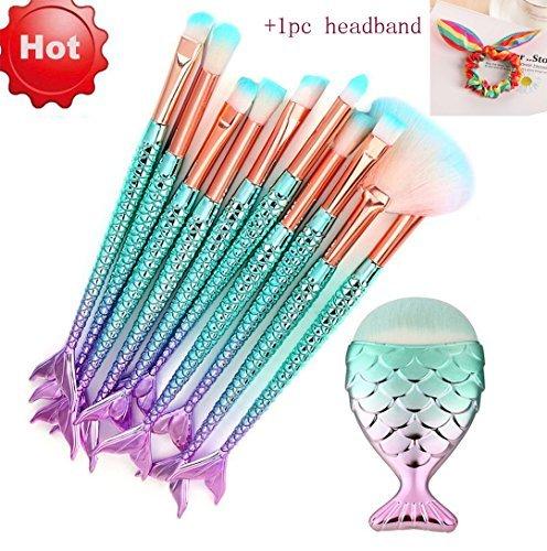 Makeup Brushes Set,Scofieldly 11PCS Foundation Eyebrow Eyeliner Blush Cosmetic Concealer Brushes-Basic Makeup Brush ()