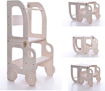 Tour d'apprentissage Montessori, Table et Chaise Convertibles