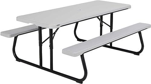 LIFETIME 260265 6-Foot Classic Folding Picnic Table, Gray