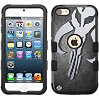 for iPod Touch 5/6, Hard+Rubber Dual Layer Hybrid Heavy-Duty Rugged Armor Cover Case - Star Wars Mandalorian #S