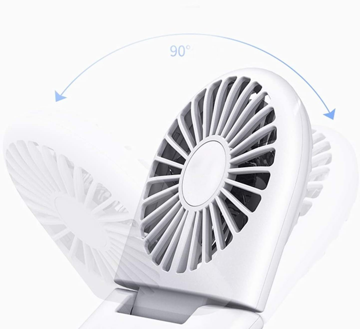 XIAOF-FEN Mini Hanging Neck Fan USB Portable Handheld Personal Fan Sucker Phone Holder Office Desktop Electric Fan USB Fan Color : White