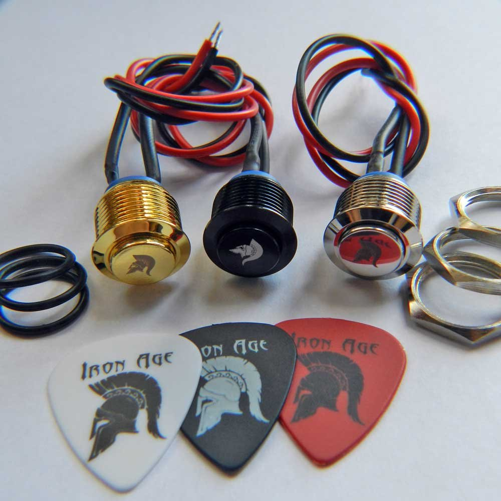 Iron Age Guitar Vintage Gold Kill Switch 16mm Momentary No Pre Wiring As Well Wired