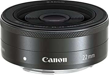 Canon EF-M 22 mm f/2 STM Lens (Black)