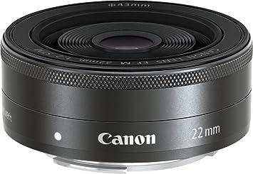 Canon EF-M 22 mm f/2 STM Lens (Black)