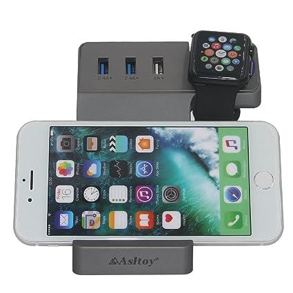 Amazon.com: Asltoy Estación de carga USB de 4 puertos ...