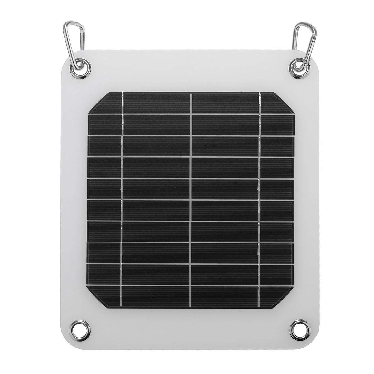 5W/5V Solar Panel Charger For Home Travel Hinking USB Port Phone Charger Battery - Arduino Compatible SCM & DIY Kits Smart Robot & Solar Panel - 1 x Solar Panel