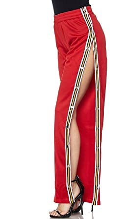 1d6a9411 Image Unavailable. Image not available for. Color: Snap Tearaway Track Pants  in Red