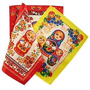 Kitchen Towel Set 'Matryoshka'
