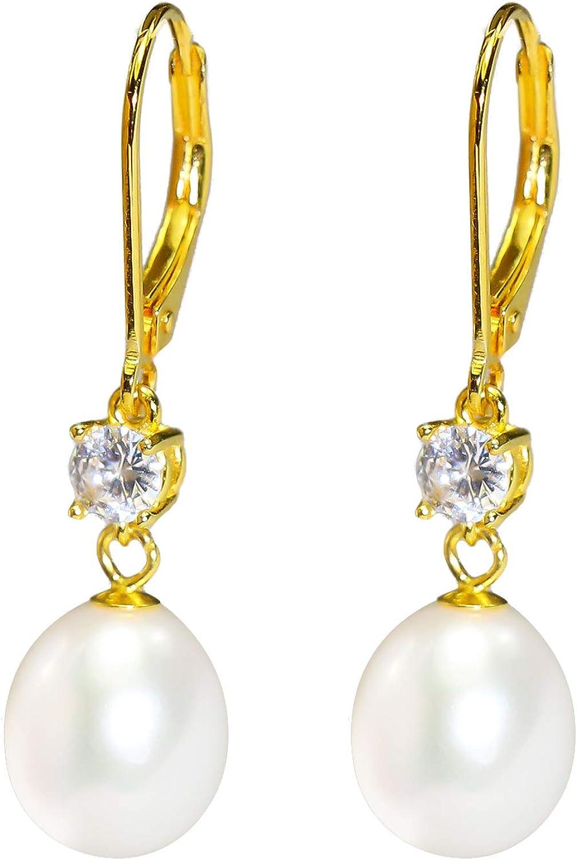 White Freshwater Pearl Earrings Gold Circle Earrings Pearl Bridal Jewelry White Pearl Earrings Bridal Earrings Gold Filled Earrings