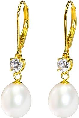 gift for her dangle earrings Teardrop pearl earrings freshwater pearl earrings pearl drop earrings drop earrings