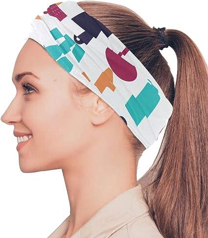 NEW 2Pcs Women Girls Sports Sweatband Headband Elastic Hair Band Accessories
