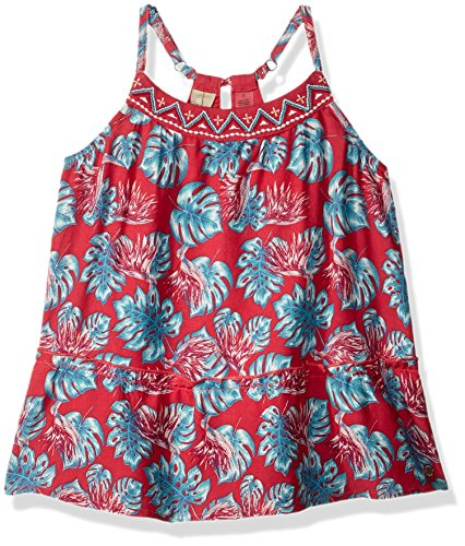 Roxy Little Girls' Boomberg Love Dress, Rouge Red Abyssal Tropical, 4 (Roxy Apparel)