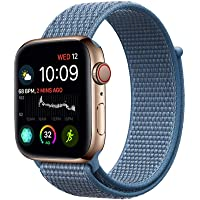 Haotop Replacement Bands Compatible with Apple Watch, Woven Nylon Sport Loop Band Wristband Replacement Bracelet for iWatch Straps Series 4/3/2/1 (38MM/40MM, Sea Blue)