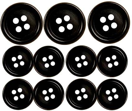 Black Suit Buttons Set, 11 Pieces, Ships Free