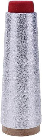 Demiawaking Glitzer Stitch Garn N/ähgarn gewebte Stickerei Stricklinie Silber