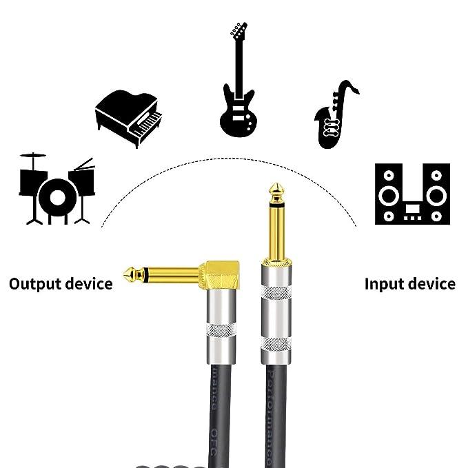Cable conductor de guitarra 10Ft / 3M, 1/4