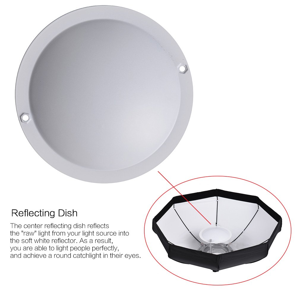 Andoer 8 Pole 60cm Beauty Dish Softbox Octagon With Lighting Diagram Bowens Mount White Foldable For Studio Strobe Flash Light Camera Photo