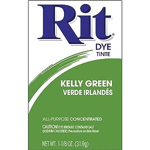 Rit Dye 3-32 11749 Powdered Fabric Dye, Kelly Green