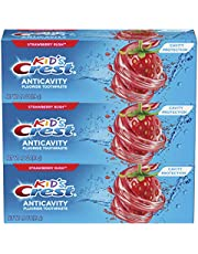 Crest Kid's Cavity Protection Fluoride Toothpaste, Strawberry Rush, 3 Count