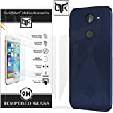 TheGiftKart Flexible Rugged Hybrid Design Anti Slip Back Cover With Tempered Glass For 10 Or E / 10.Or E / Tenor E (Blue)